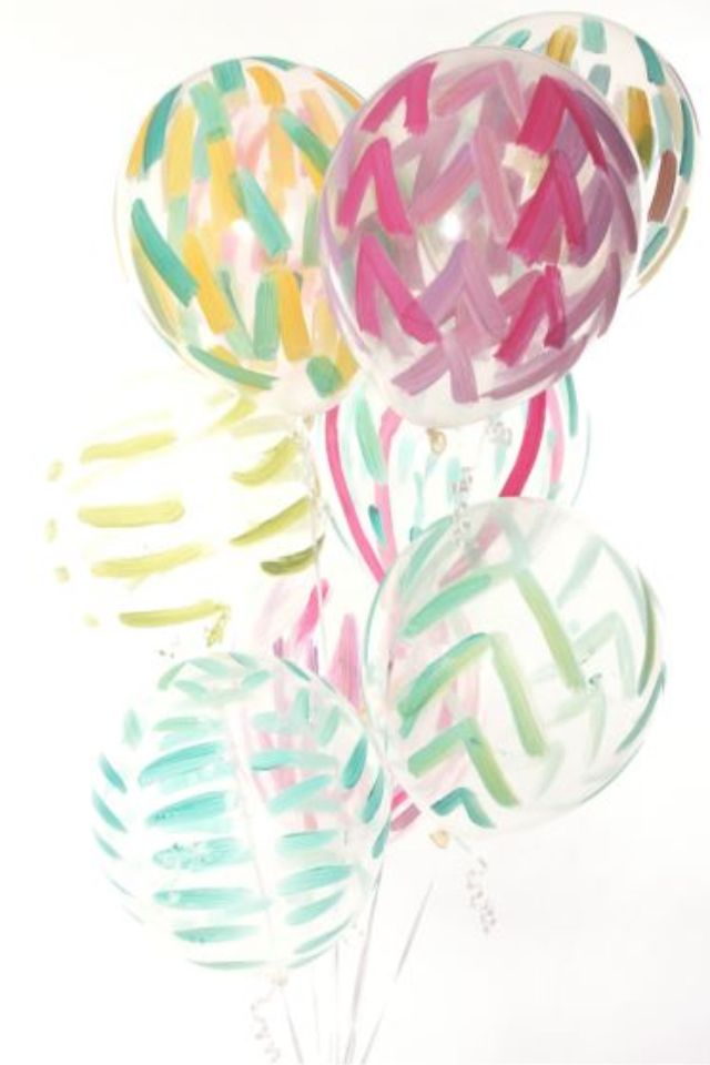 #DIY painted balloons