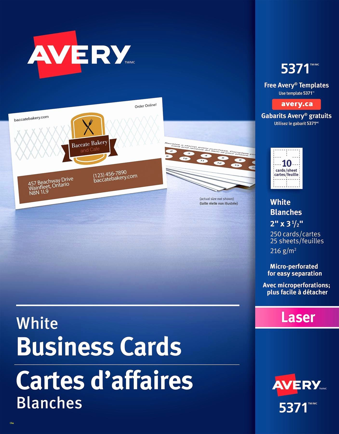 Avery Business Card Template 5371 Avery Business Cards Business Card Template Card Template
