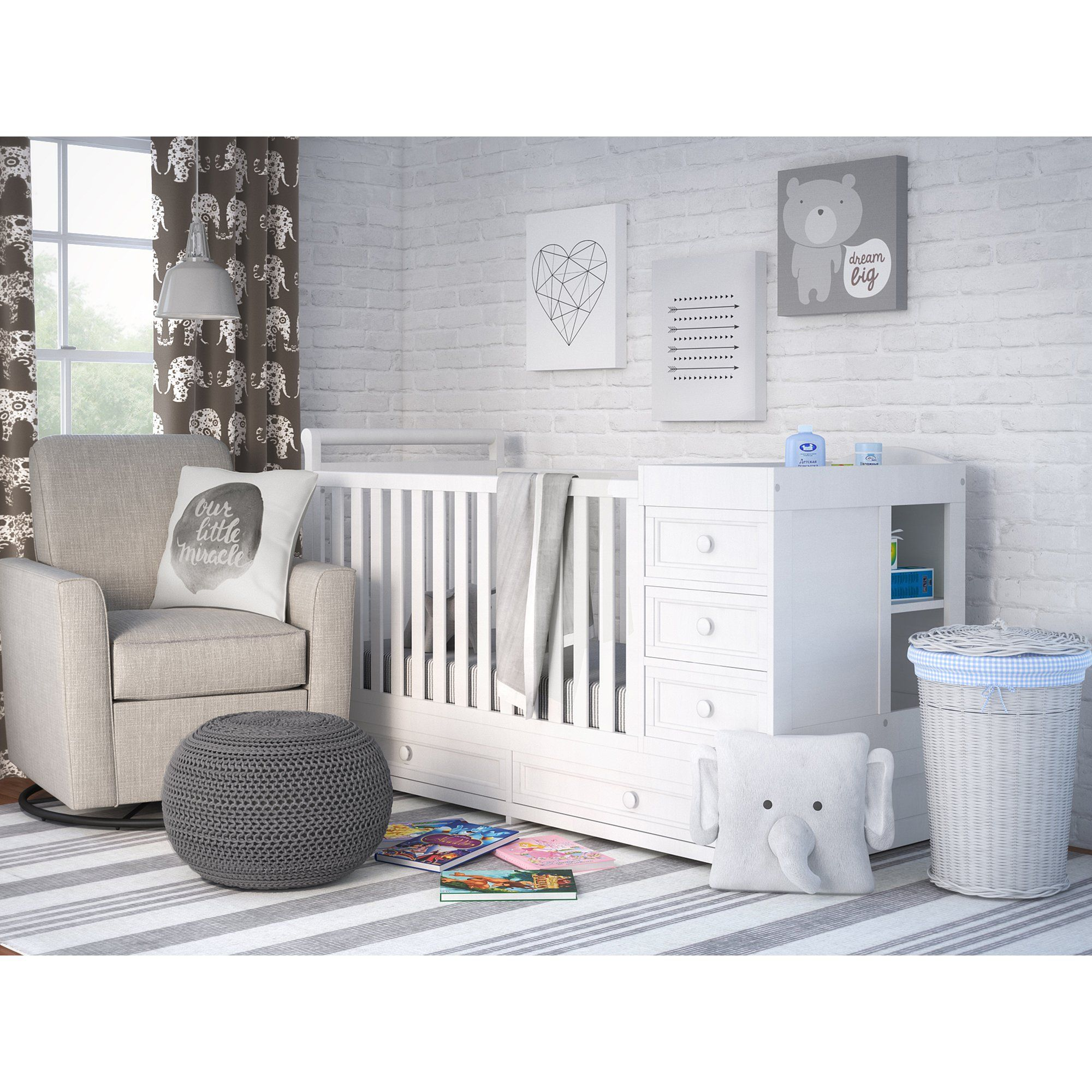 Main Image Zoomed Cribs Convertible Crib Furniture