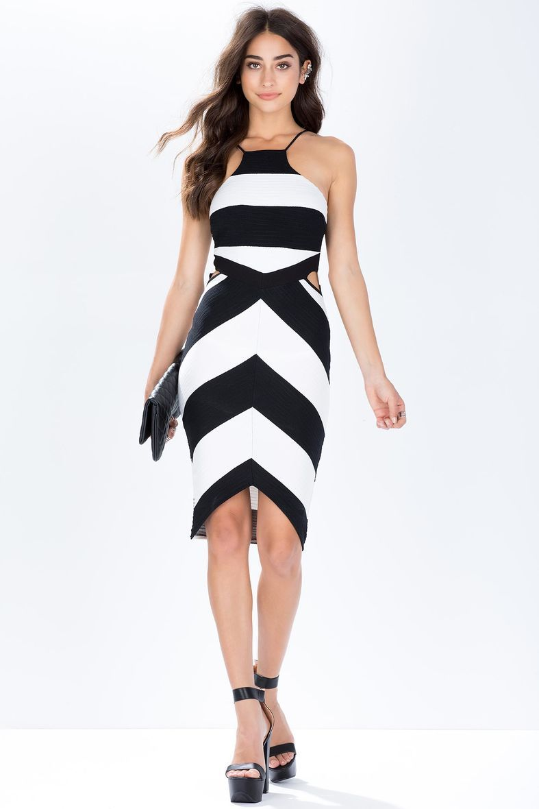 Mod stripe halter dress love ittt pinterest