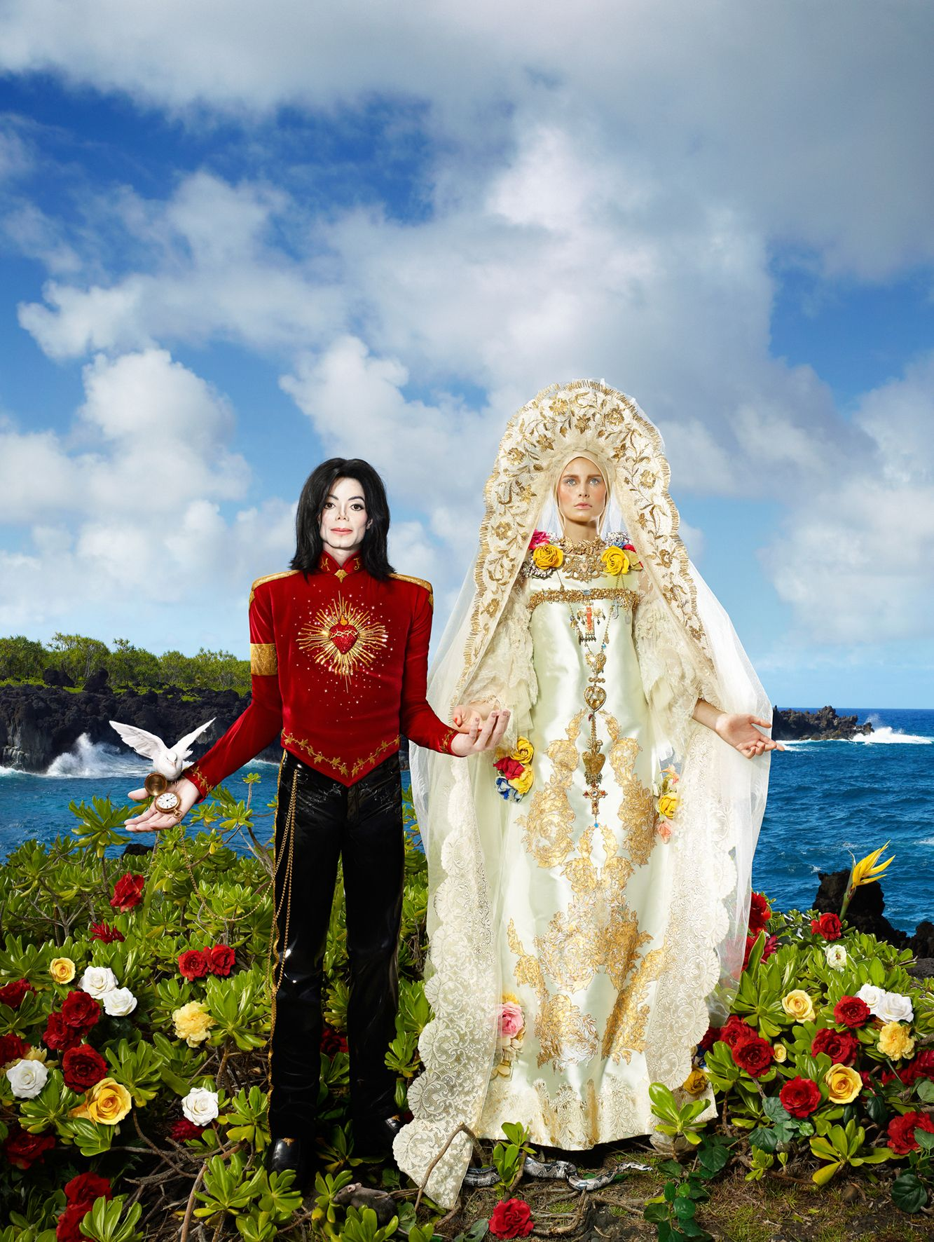 """David Lachapelle """"The Beatification: I'll never let you part for you're always in my heart"""""""
