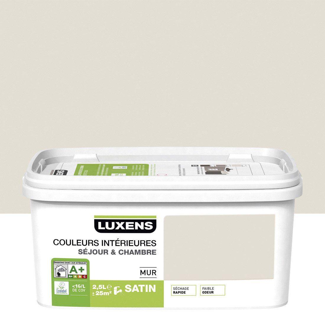 peinture blanc lin 2 luxens couleurs intrieures 25 l leroy merlin - Peinture Murale Couleur Lin
