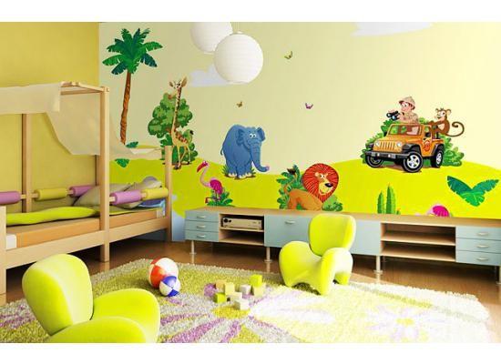 Wandsticker Set Kinderzimmer Dschungel-Safari | lustiges | Pinterest ...