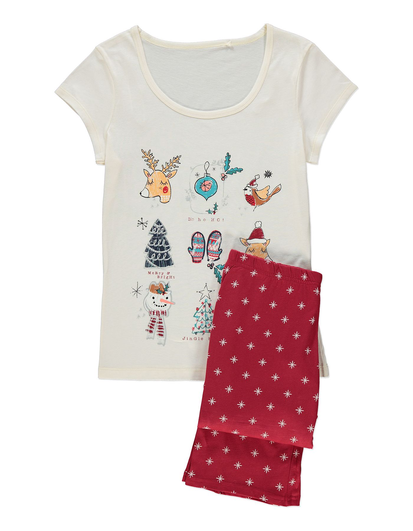 Christmas Pyjama Set Women George At Asda In 2020 Christmas Pajama Set Pajama Set Women Christmas Pajamas
