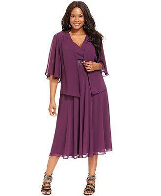 71143476355 SL Fashions Plus Size Sleeveless Beaded Dress and Jacket Macy s ...