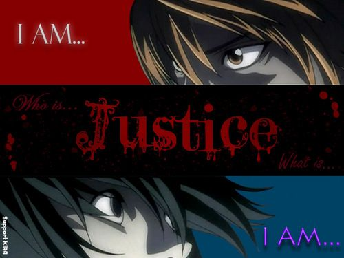I Am Justice Death Note  Death Note    Death Note
