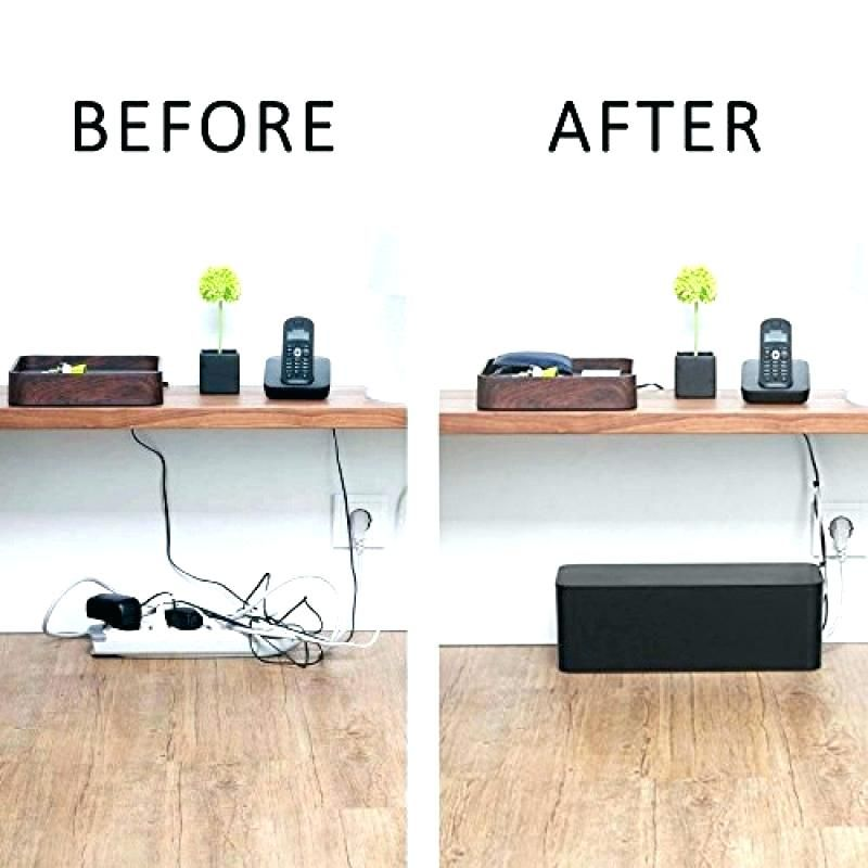 Wall Cable Organizer Cord Organizer Set Of Two Cable Management Box Cord Organizer Large Storage Holder For Desk Co Cord Organization Cable Management Box Desk