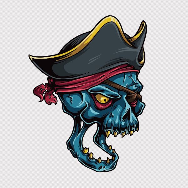 Adobe Illustrator Tutorial - How to Draw a Vector Pirate Skull ...