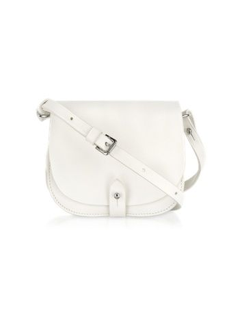 Small Saddle Shoulder Bag - Small Saddle Shoulder Bag Ralph Lauren  Collection Smooth white leather with matching stitching is crafted into a  mini classic ... d72b44fd9b920