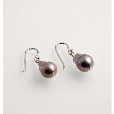 Orecchini Pendenti di Perle grigie e Ag 925