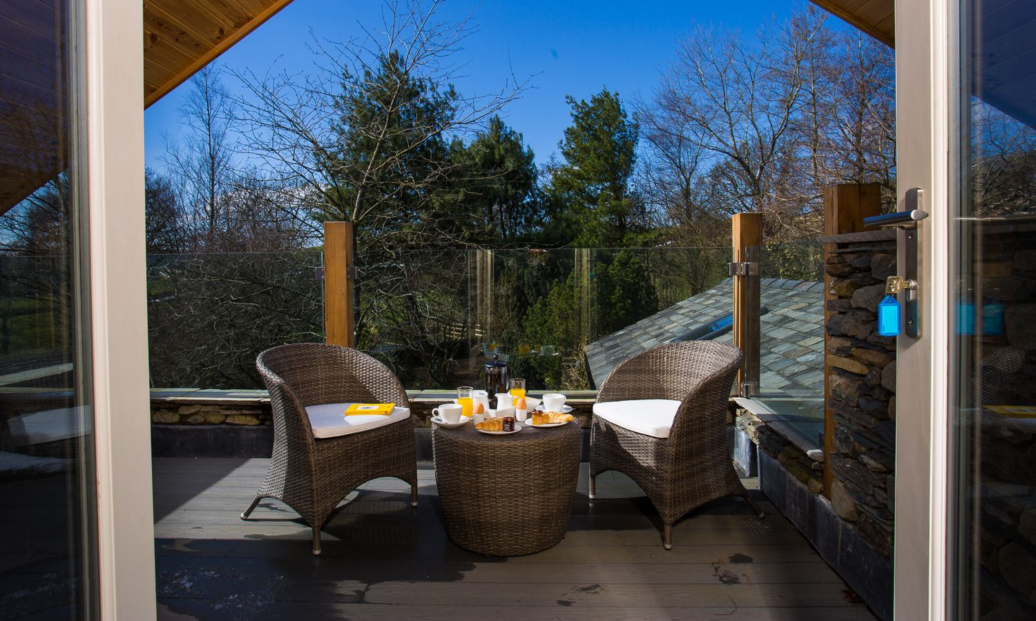 Breakfast On The Terrace At Mirefoot In Cumbria Luxury Holiday