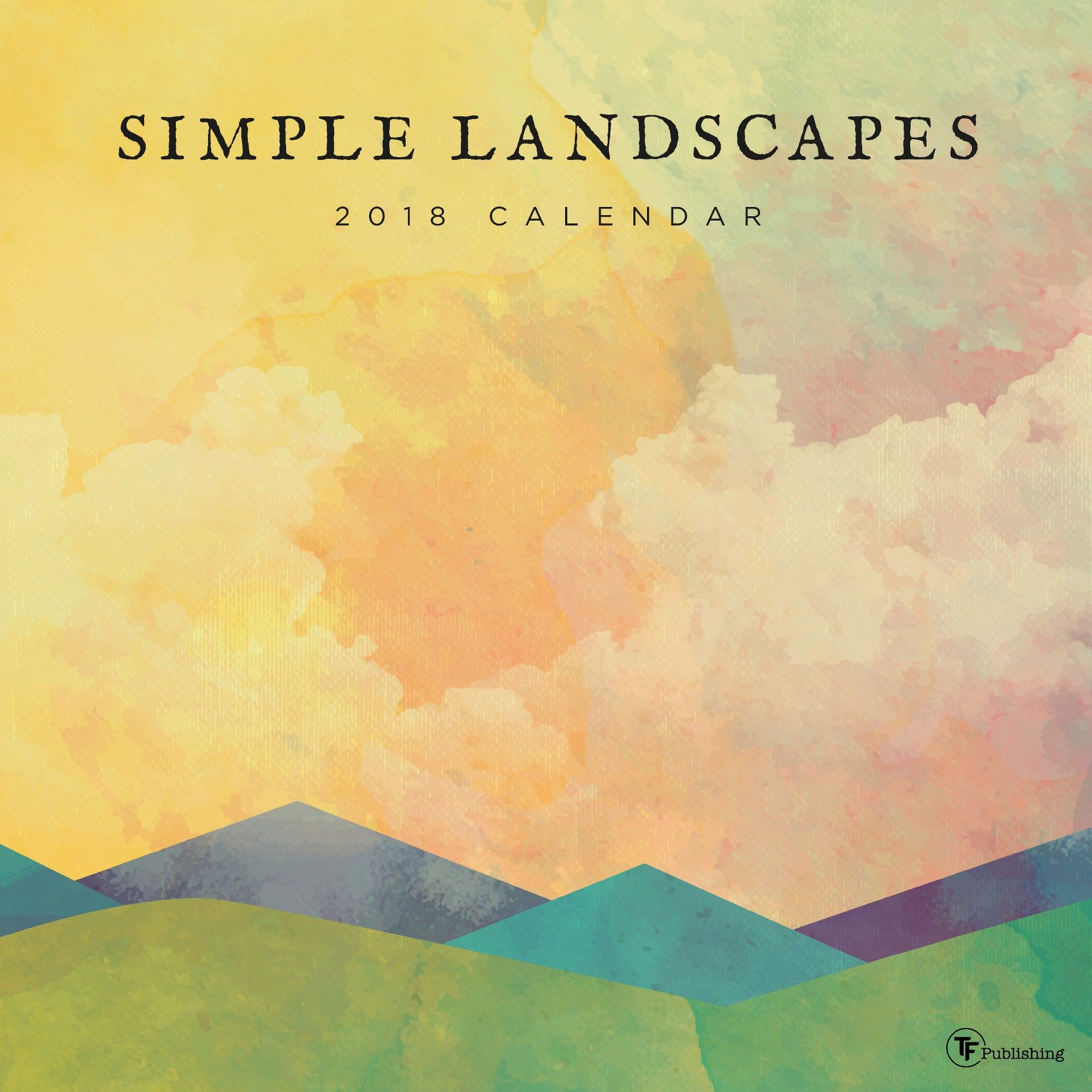 2018 TF Publishing Wall Calendar - Simple Landscapes, | Products