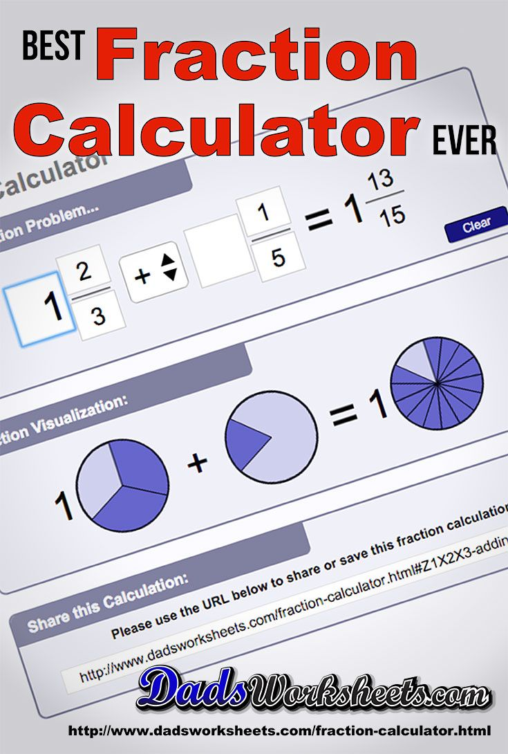 Fraction calculator for arithmetic operations: addition ...