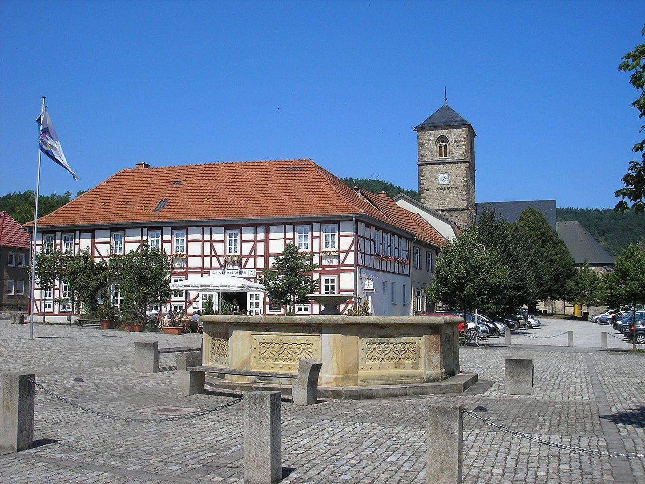 Creuzburg/ Thüringen, Marktplatz