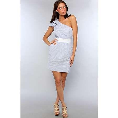Seersucker Dress For Women - Qi Dress