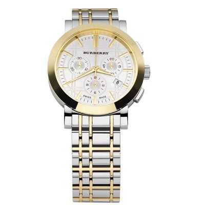 bu1374 burberry heritage silver and gold round face designer dress bu1374 burberry heritage silver and gold round face designer dress mens watch only 400