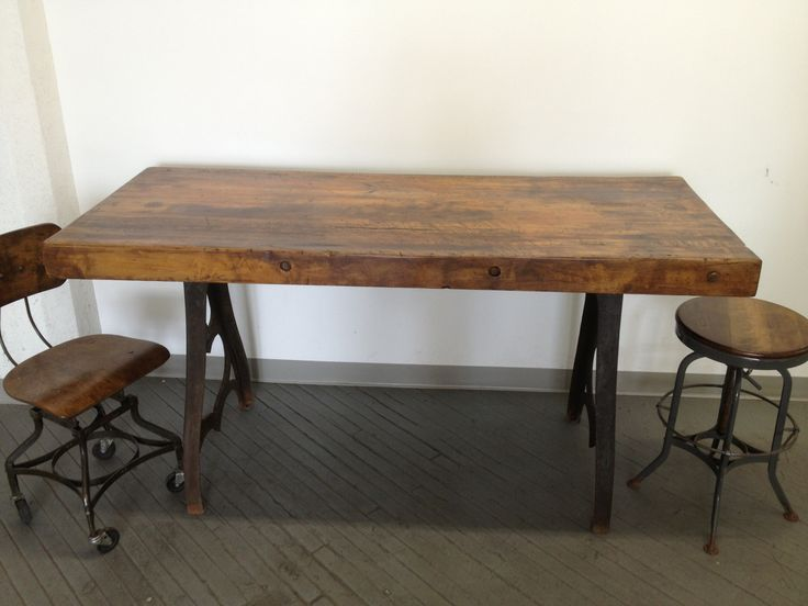Beautiful Industrial Dining Table Diy   Google Search · Butcher Block ...