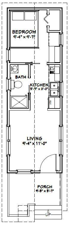 10x30 1 Bedroom 1 Bath Tiny Houses Pdf Floor Plans 300 Sq Ft Instant Downl Tiny House Floor Plans Shipping Container House Plans Container House Plans