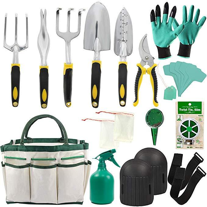 Amazon Com Garden Tools Set 14 Piece Gardening Gifts Tool Kit