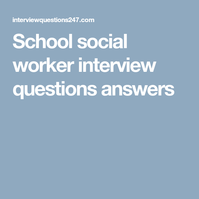 social worker interview questions