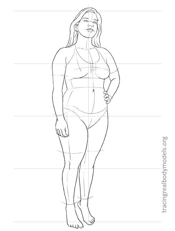 Tracing Real Body Models An alternative to the stereotypical - fashion designer templates