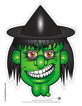Printable Witch Hat Mask Mask Printable Halloween Masks Halloween Prints Halloween Masks