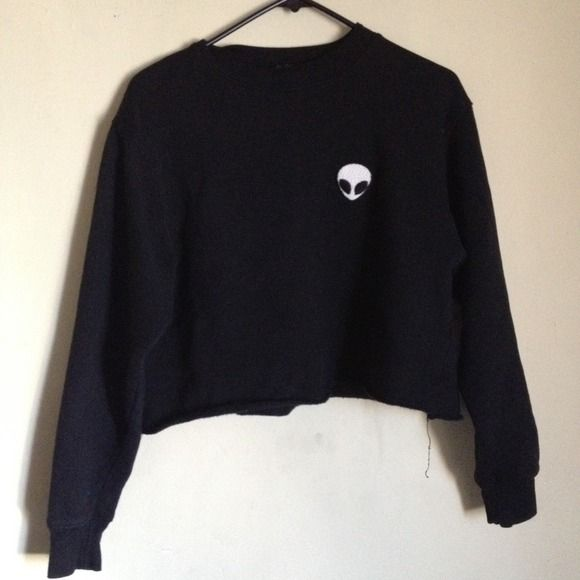 c57e2cd2bdbe Brandy Melville Sweaters - SOLD  Brandy Melville Alien Crewneck ...