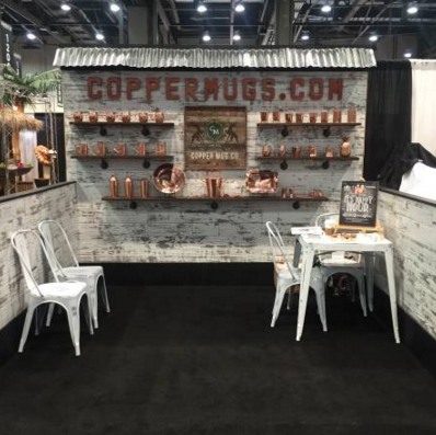 rustic 10 x 10 reclaimed distressed barnwood style exhibit trade show booth