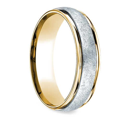 Two Toned Platinum Yellow Gold Swirl Men S Wedding Band Men S Wedding Ring Titanium Wedding Rings Rings For Men