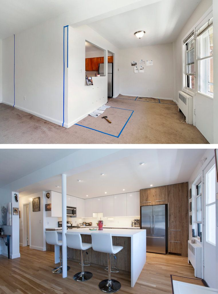 Brooklyn Remodeling Style Collection before and after: bringing urban style to suburbia | home, new