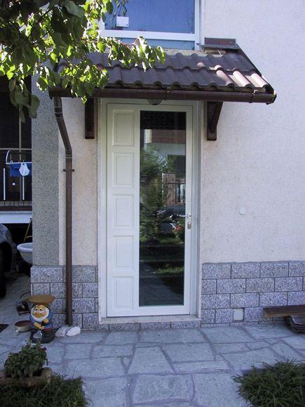 Porta blindata bianca con vetro a specchio fratelli - Porta ingresso blindata ...