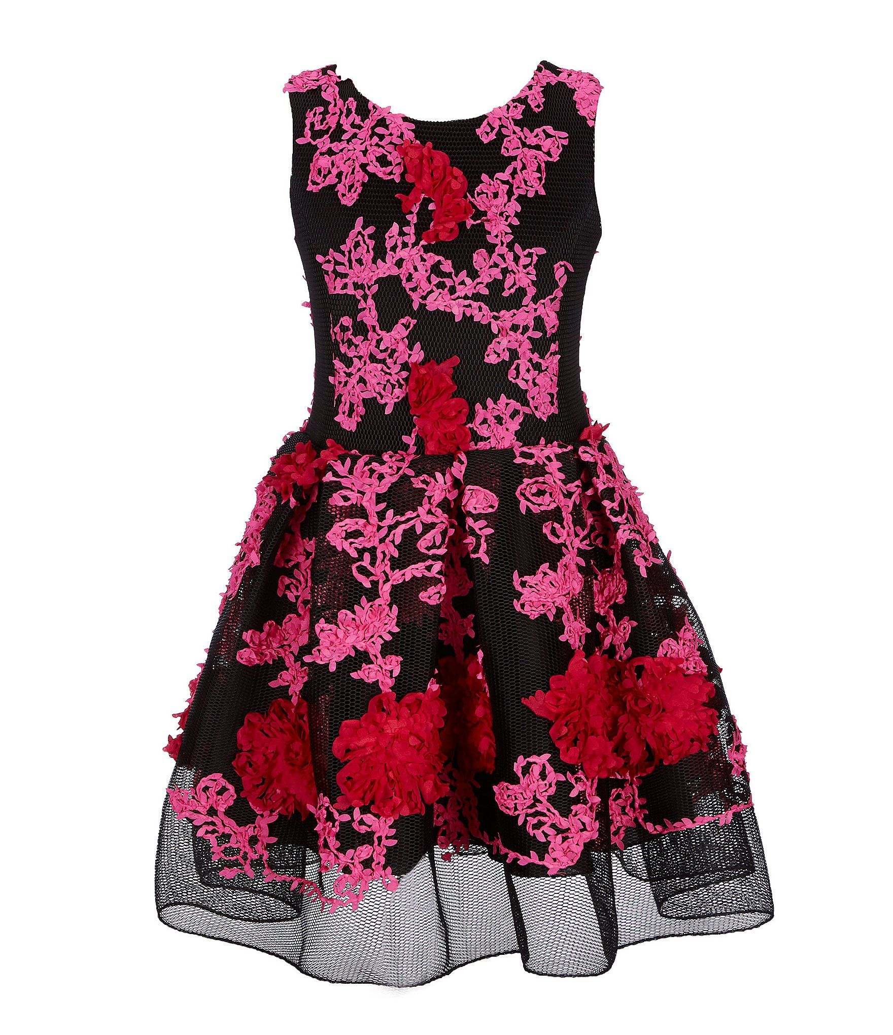 8b6453992d8a Shop for Zoe Big Girls 7-16 Floral Embroidered Mesh Fit-And-Flare Dress at  Dillards.com. Visit Dillards.com to find clothing