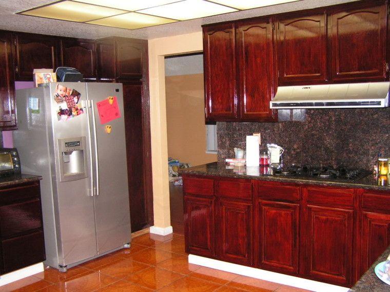 14 Astonishing Stain Kitchen Cabinets Snapshot Idea ...