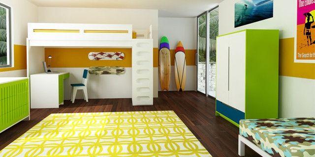 Moderne Hochbetten sind echte Hingucker im Kinderzimmer #echte - das moderne kinderzimmer