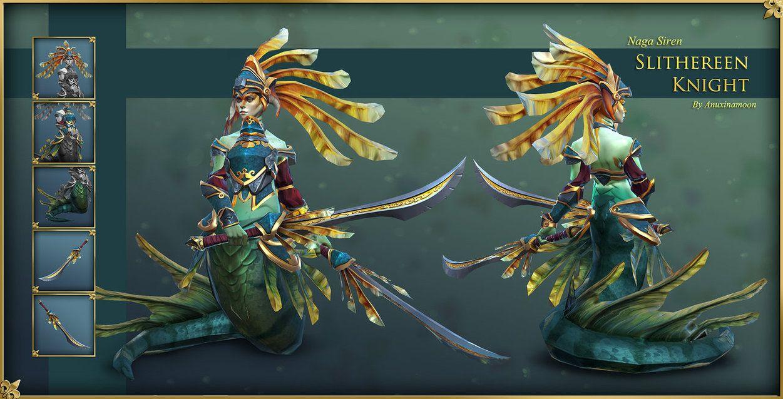 Dota2 - Naga Siren Slithereen Knight Final | Art, Concept art, Dota 2