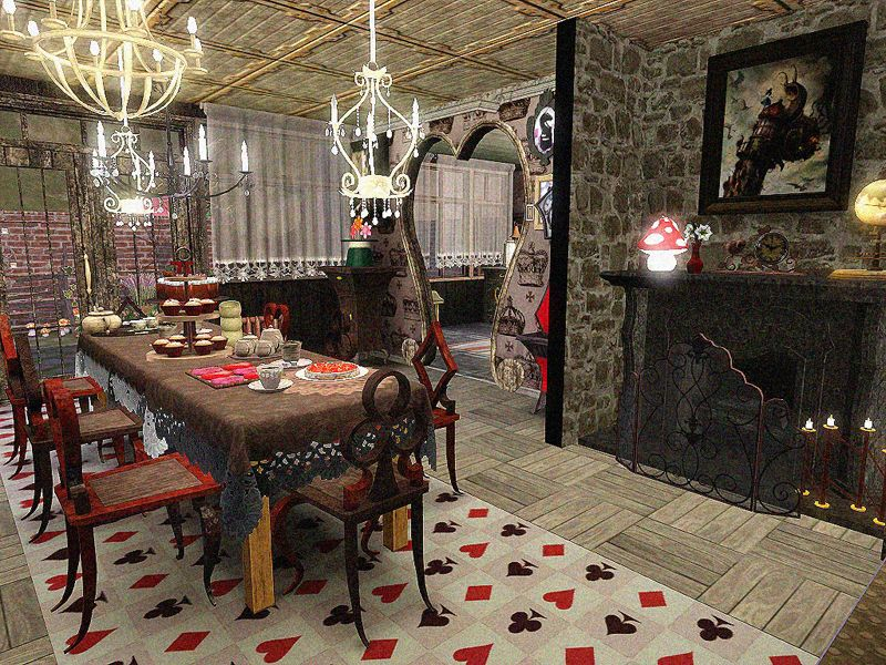 Superb DOTY Round 2  Alice In Wonderland Kitchen U0026 Dining Room   By SandyMDH