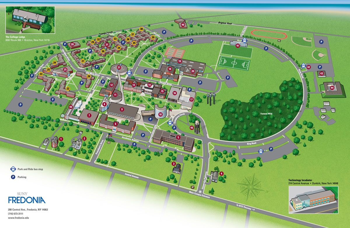 Image result for fredonia state university campus map