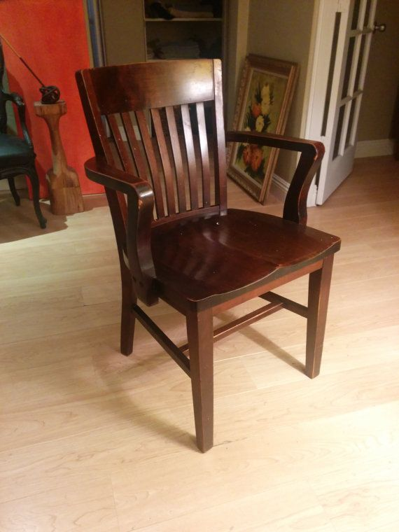 Superior Antique Oak Office Chair By Qcubed3 On Etsy, $174.99
