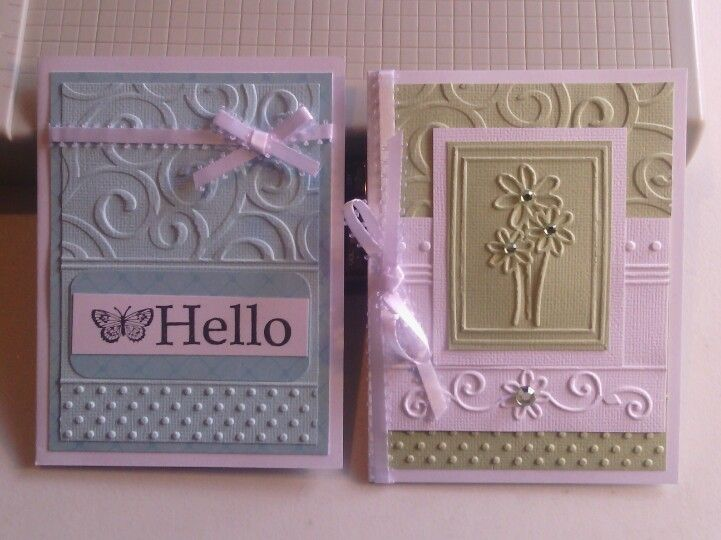 Made these cards with the sizzix texture boutique beginners kit | Scrapbooking & Card making ...