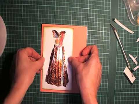 Corner Fold Fancy Dress Tutorial part 2 - YouTube | Iris ... - photo#34