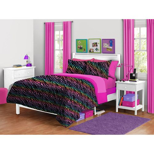 Your Zone Zebra Plush Bedding Comforter Set Kids 39 Teen Rooms Things I Would