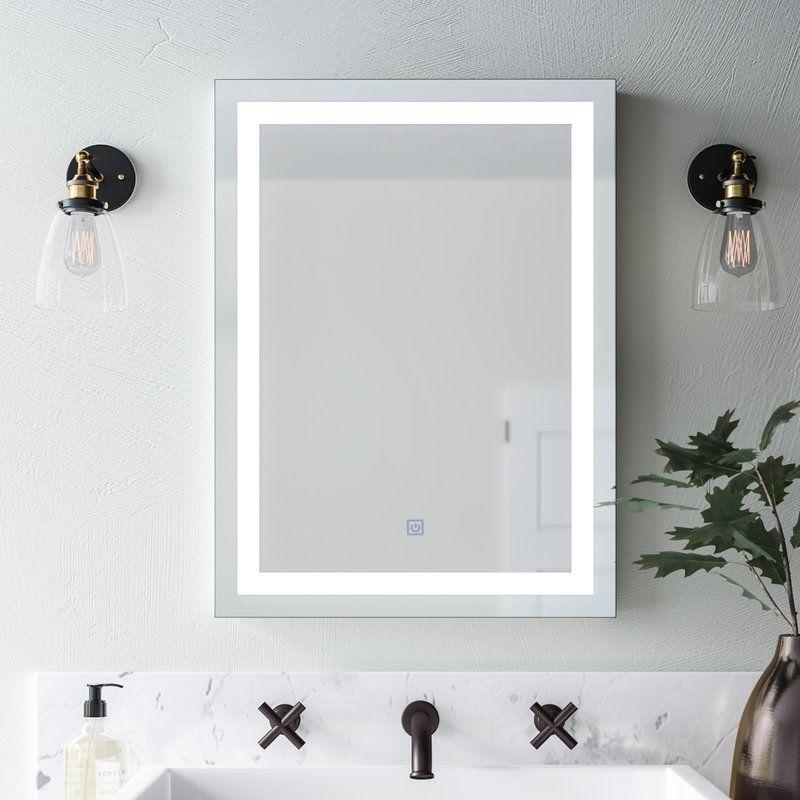 Butcher Illuminated Modern Contemporary Lighted Bathroom Vanity Mirror Mirror Wall Bathroom Bathroom Wall Decor Contemporary Bathroom Vanity