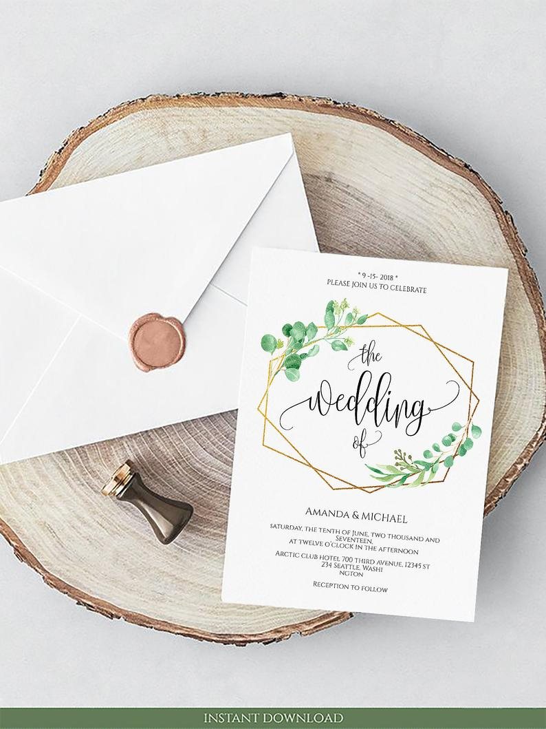 Grune Hochzeit Einladung Karte Kalligraphie Hochzeit Einladung Grun Druckbare Digitale Pdfvorlage Grun Hochzeit Laden Rahmen Einladungskarten Hochzeit Etsy
