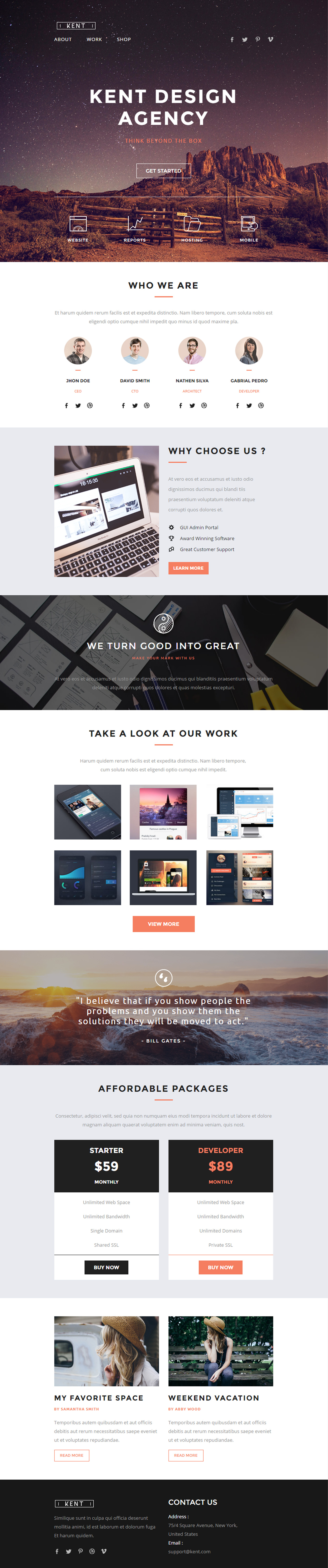 Kent Is Premium Responsive HTML Email Template Drag Drop - Drag and drop mailchimp templates