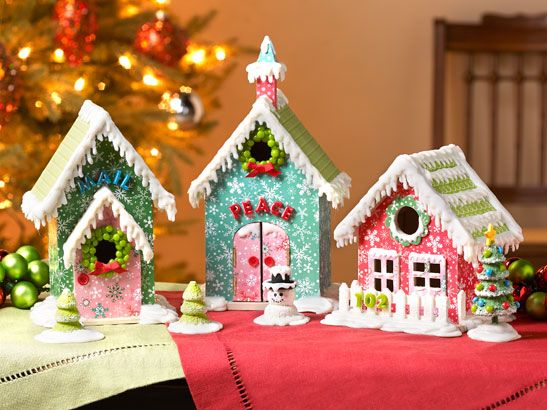 Mod Podge Home for the Holidays Week 5 - DIY Christmas Village ...