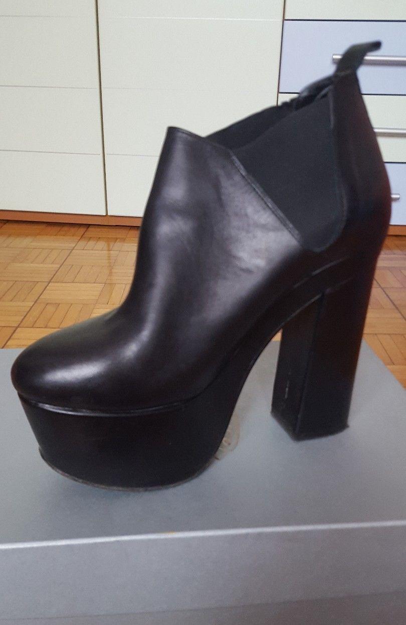 stivaletti donna scarpe stivali neri tronchetto tacco spillo