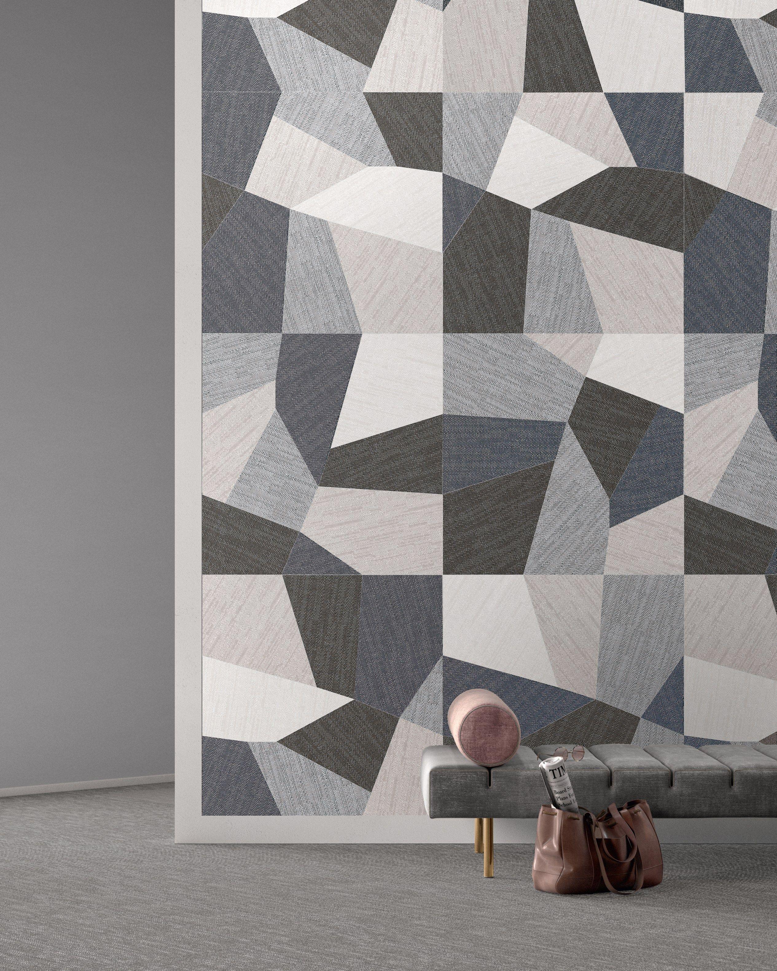 Porcelain stoneware wall floor tiles with textile effect for Carrelage de ravel 63