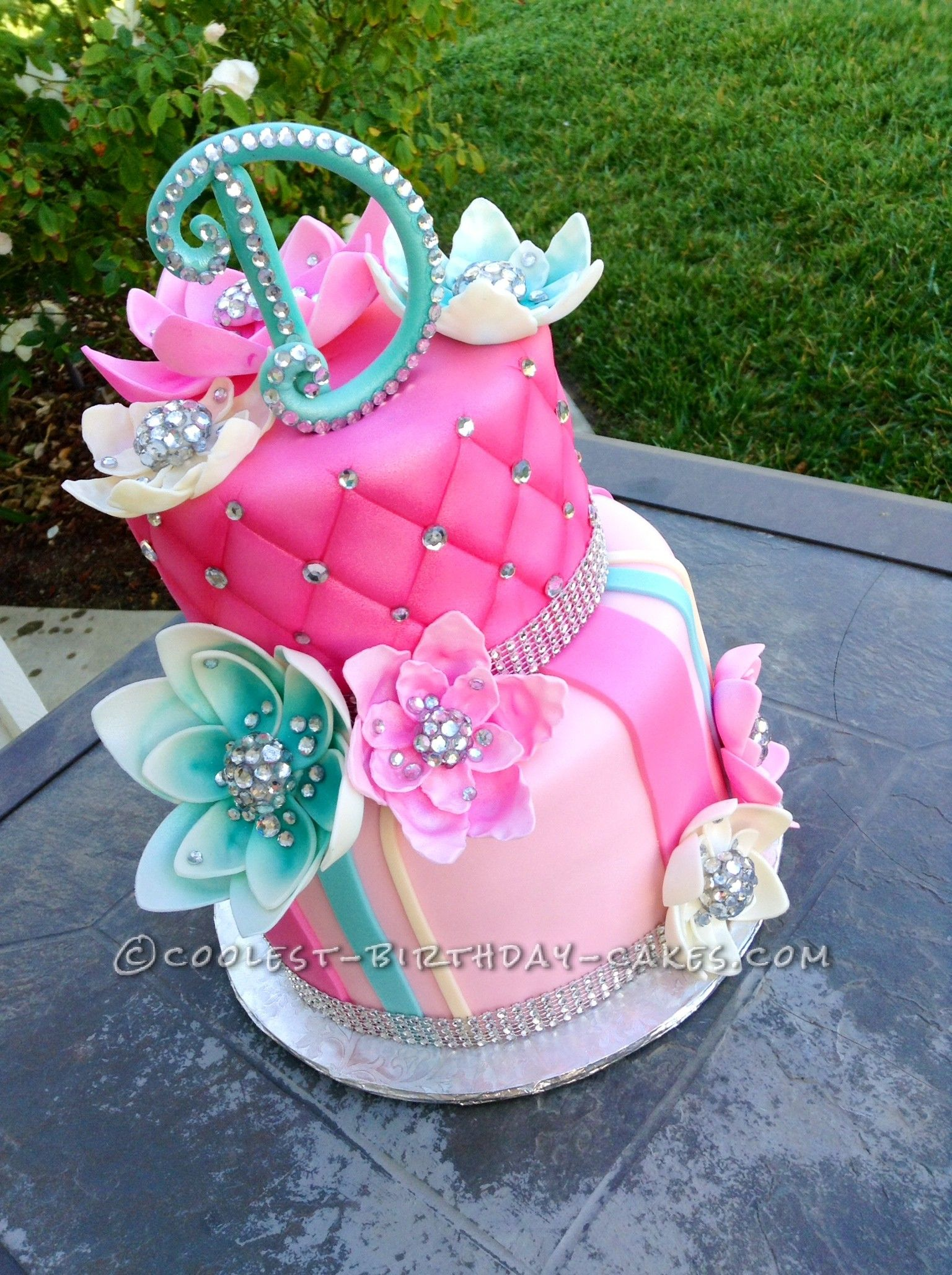 Delicious Homemade Beautiful Birthday Cake With Bling In