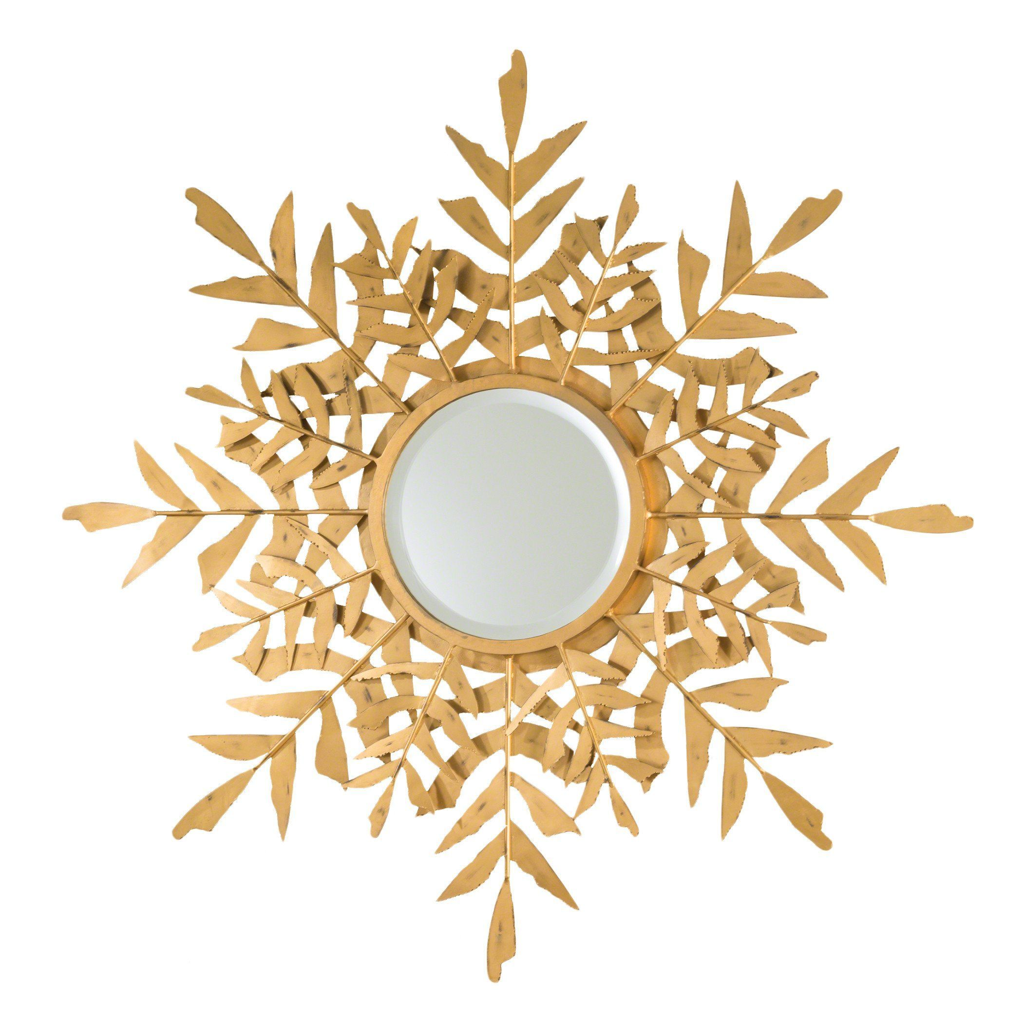 Palm Leaf Starburst Gold Wall Mirror by Global Views | Gold wall ...