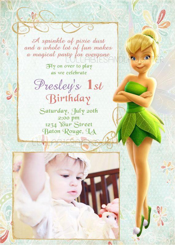 tinkerbell birthday invitation